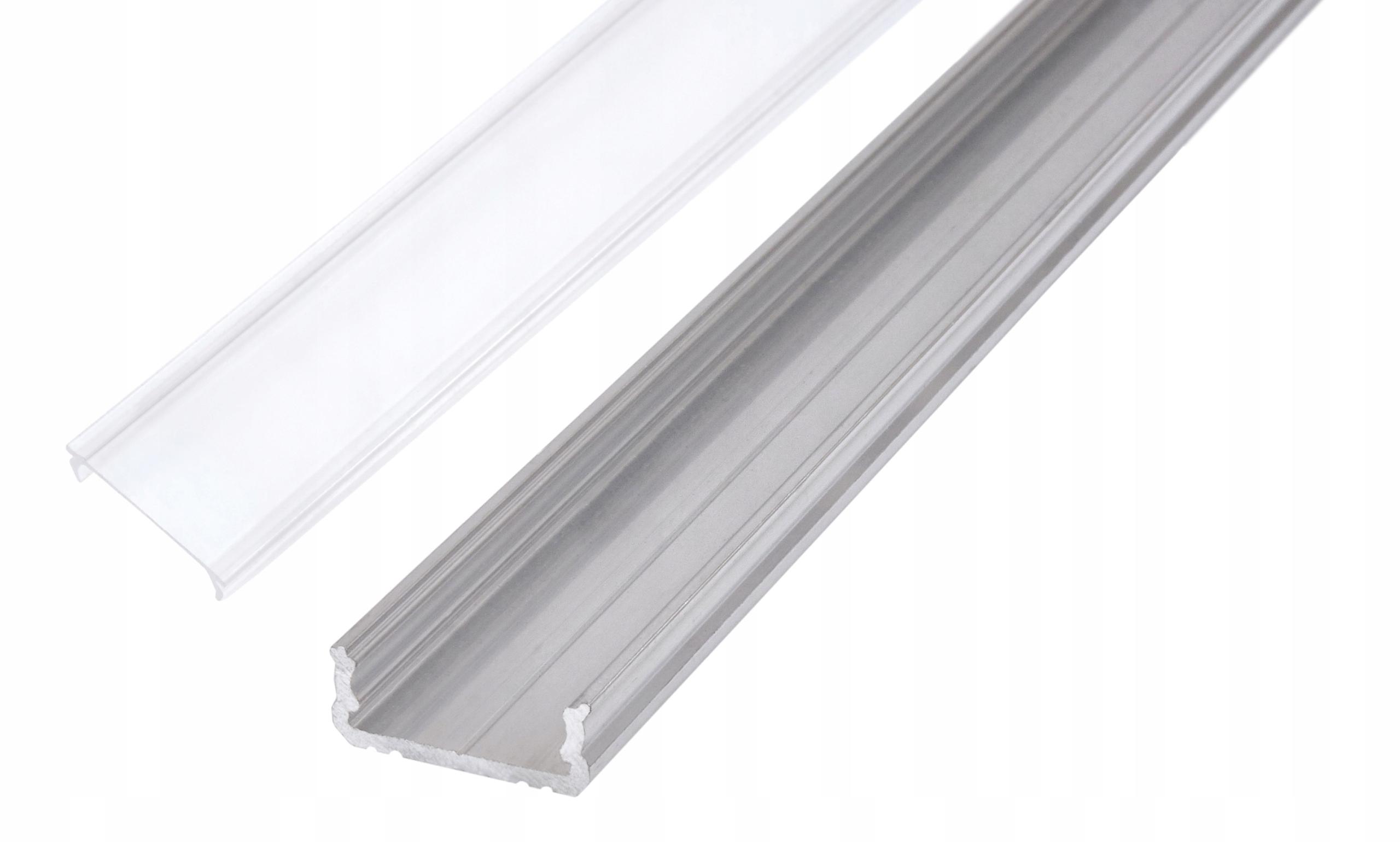 Профиль для светодиодной ленты OXI-Dx, пластина 1м + крышка