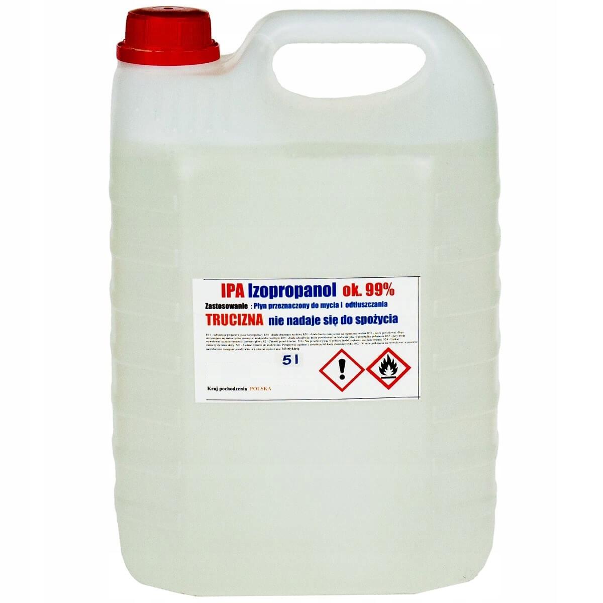 Изопропиловый спирт обезжириватель IPA 99% 5Л