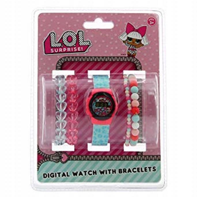 Sada LOL SURPRISE Digitálne hodinky 4 náramky