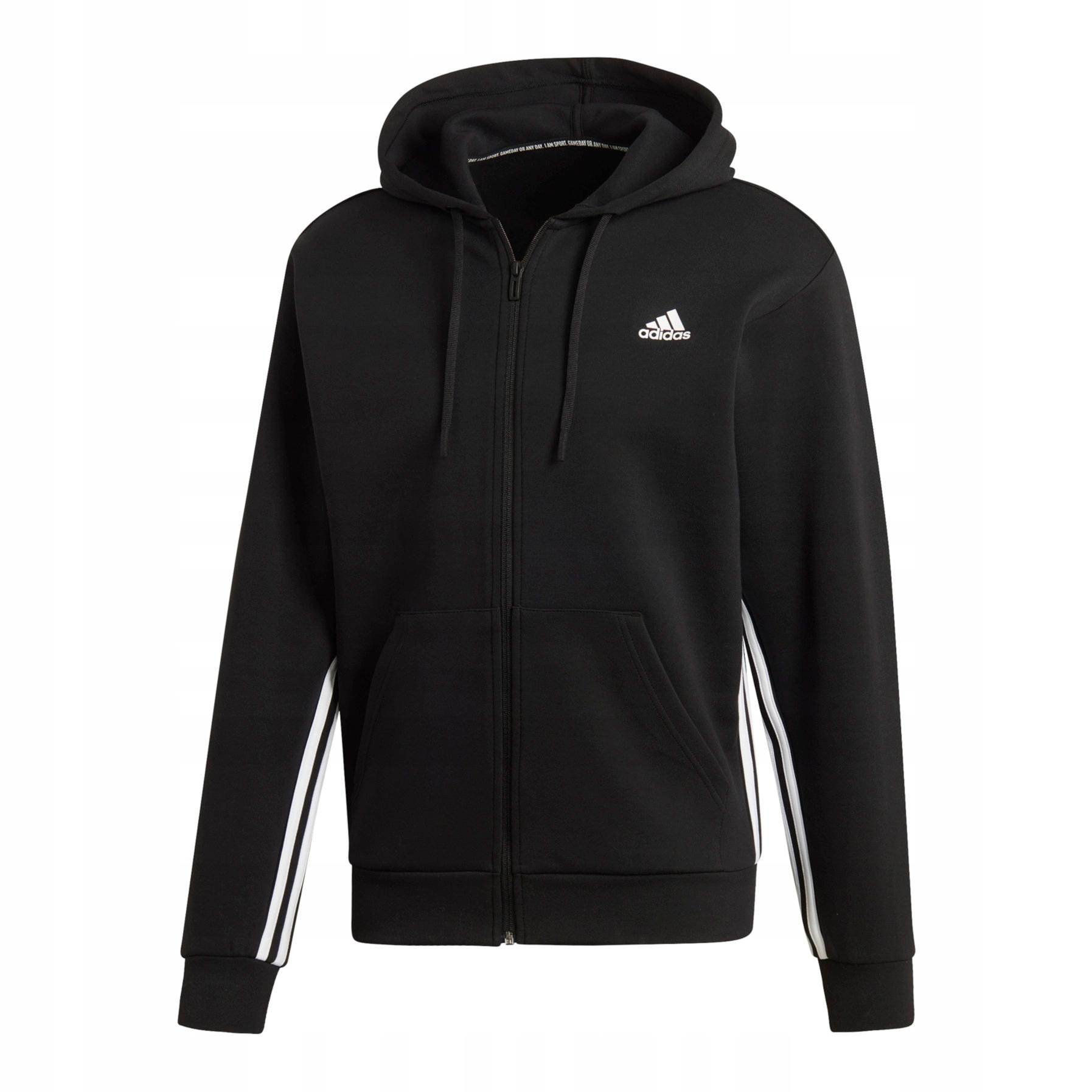 bluza hoodie adidas 3 pasku