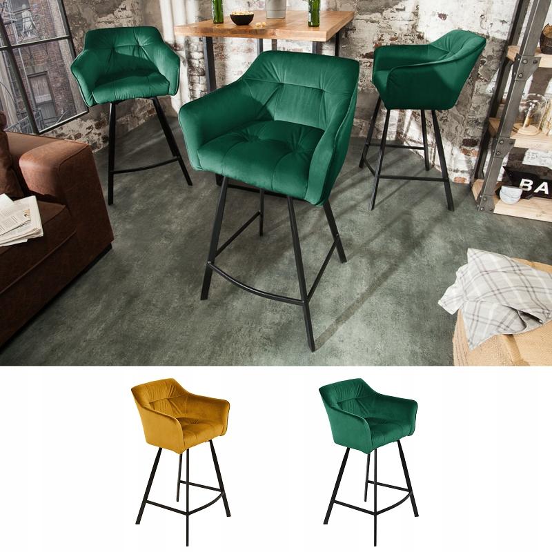 Barová stolička stolička stolička retro zamatové kreslo
