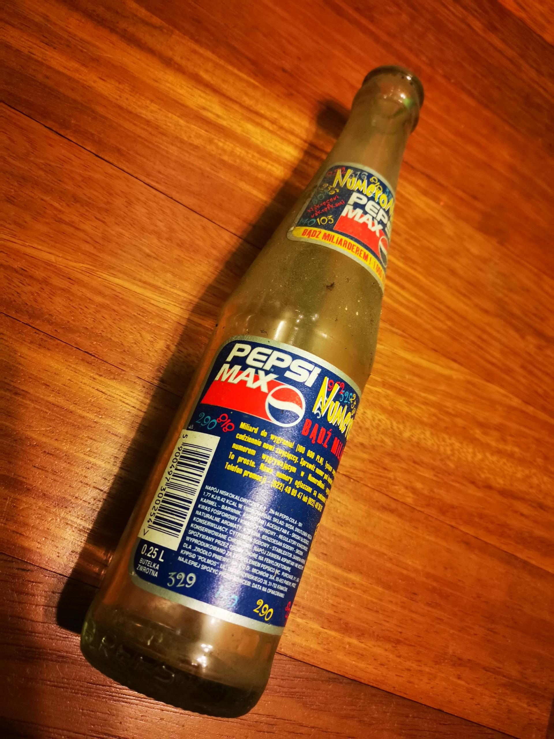Butelki Pepsi Max 0,25L polska