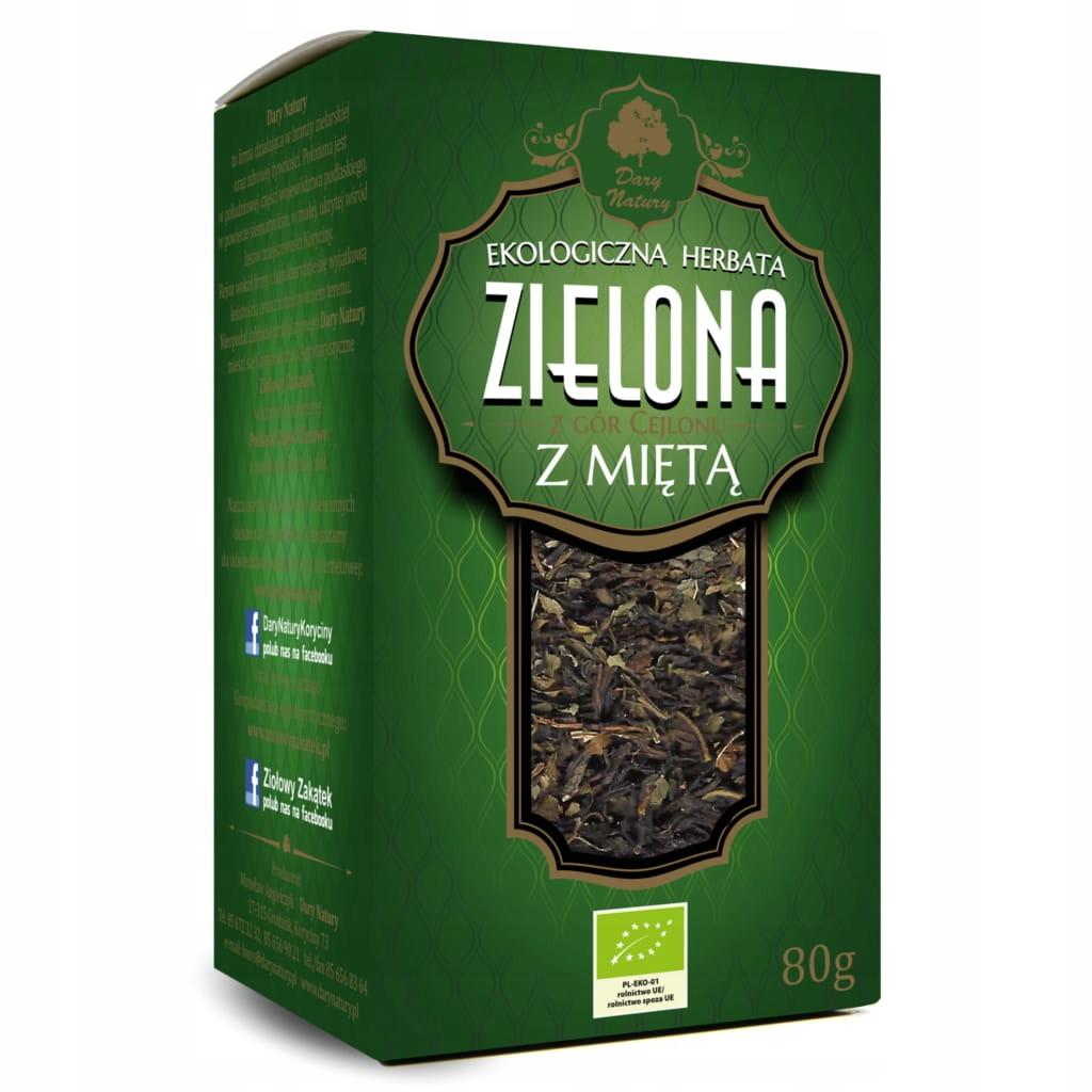Зеленый чай с мятой 80 г EKO Dary Natury
