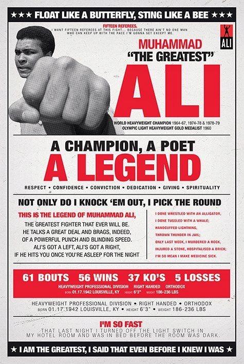 Мухаммад Али-Старинные - плакат 61x91,5 см