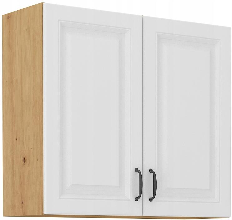 RETRO horná kuchynská skrinka 80 cm remeselník + biela