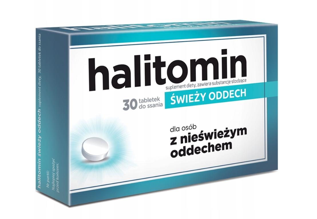 Halitomin tabletki do ssania świeży oddech 30 szt