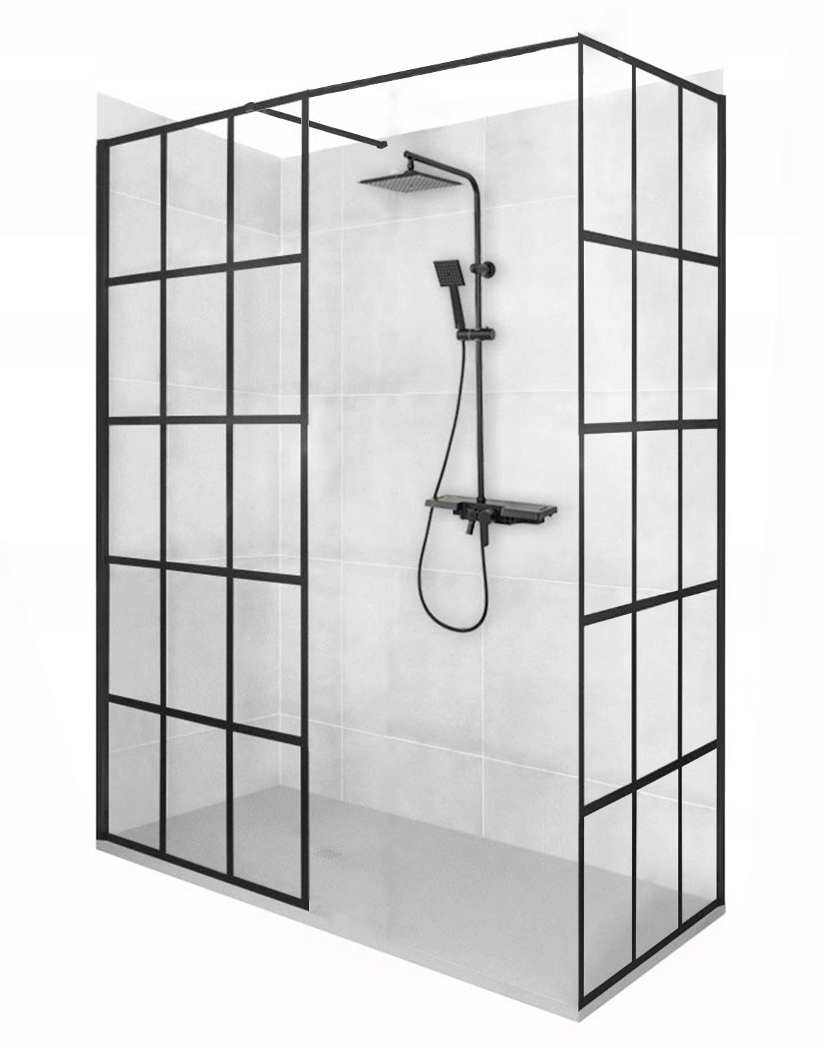 Rohový sprchový kút BLER-1 110x110 ČIERNY