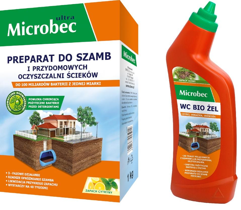 Microbec ULTRA Bakterie DO SZAMB 1kg + WC BIO ŻEL