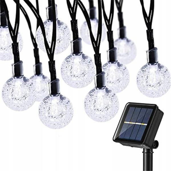 30 Led 6.5 M Lampki Solarne Ogrodowe Żarówka Lampa