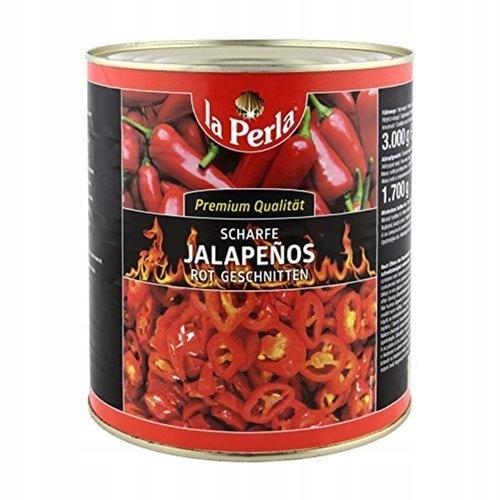 Papryka jalapeno 2,9 kg krojona czerwona