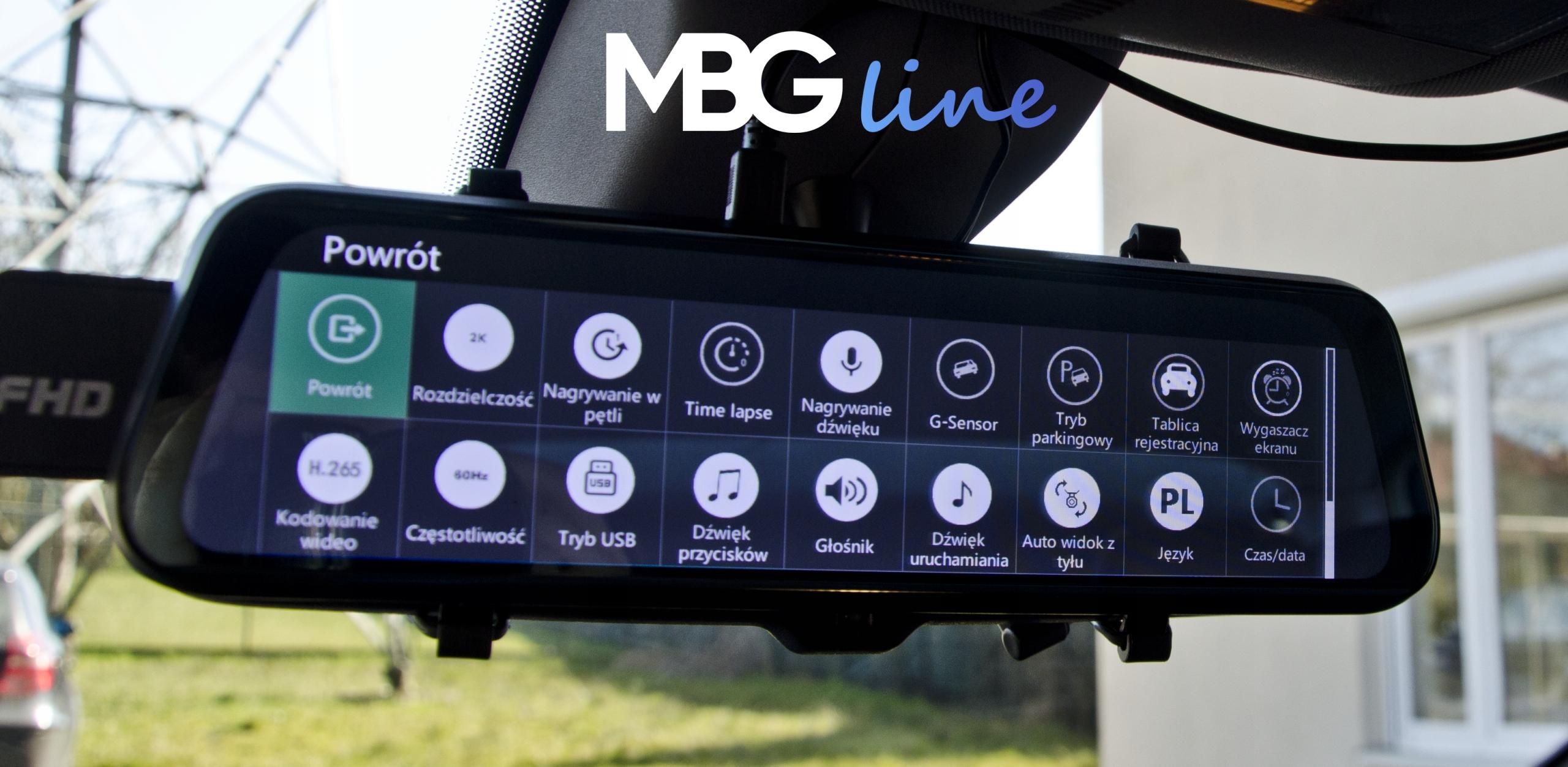 Kamera Rejestrator lusterko 2K+FHD HS900PRO SONY Kąt widzenia 170°