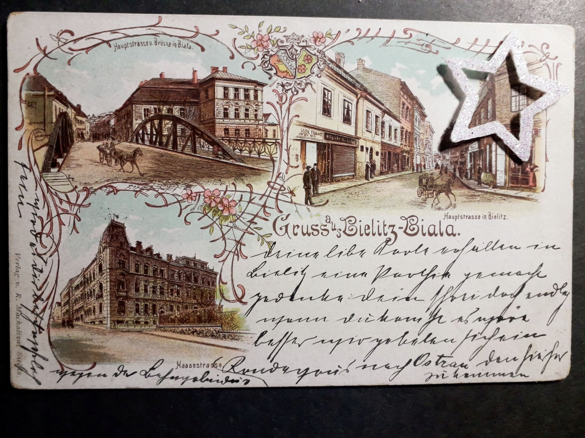 BIELSKO BIAŁA Gruss-Bielitz-Biala 1898r