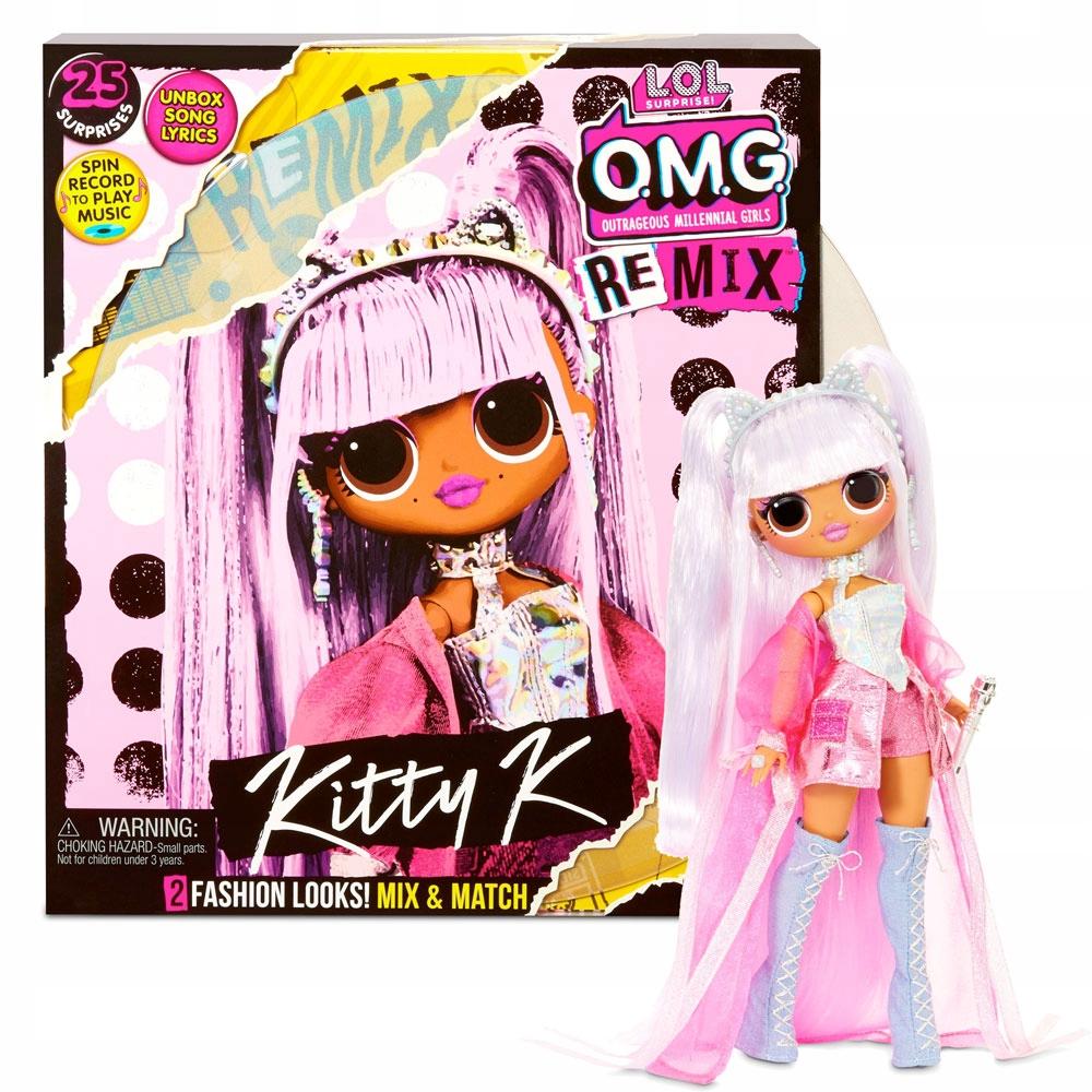 LOL SURPRISE Doll OMG REMIX Kitty K + OTOČNÝ