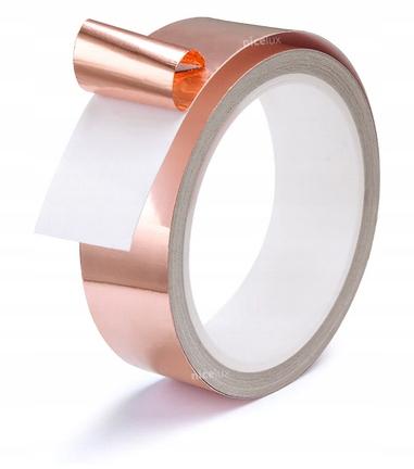 TAŚMA MIEDZIANA NAPRAWY ELEKTRYCZNE 10 METRÓW 5mm