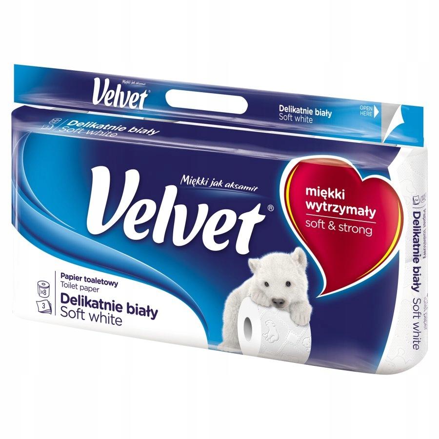 Туалетная бумага Velvet 3 слоя Прочный 8 шт.