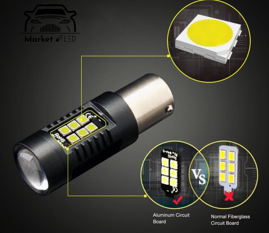 Kierunkowskaz LED Py21W Bau15s P21W - Pomarańcz Typ żarówki P21W