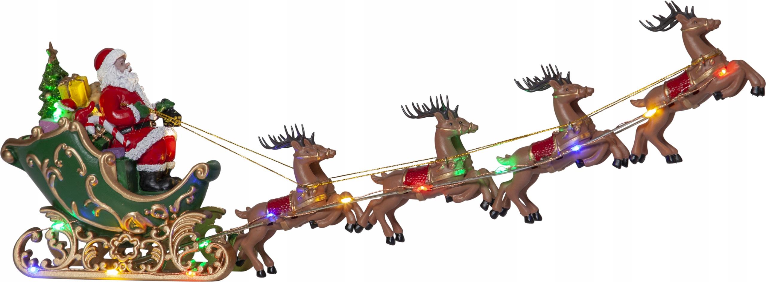 Švédska vianočná scéna s LED diódou Santa Claus