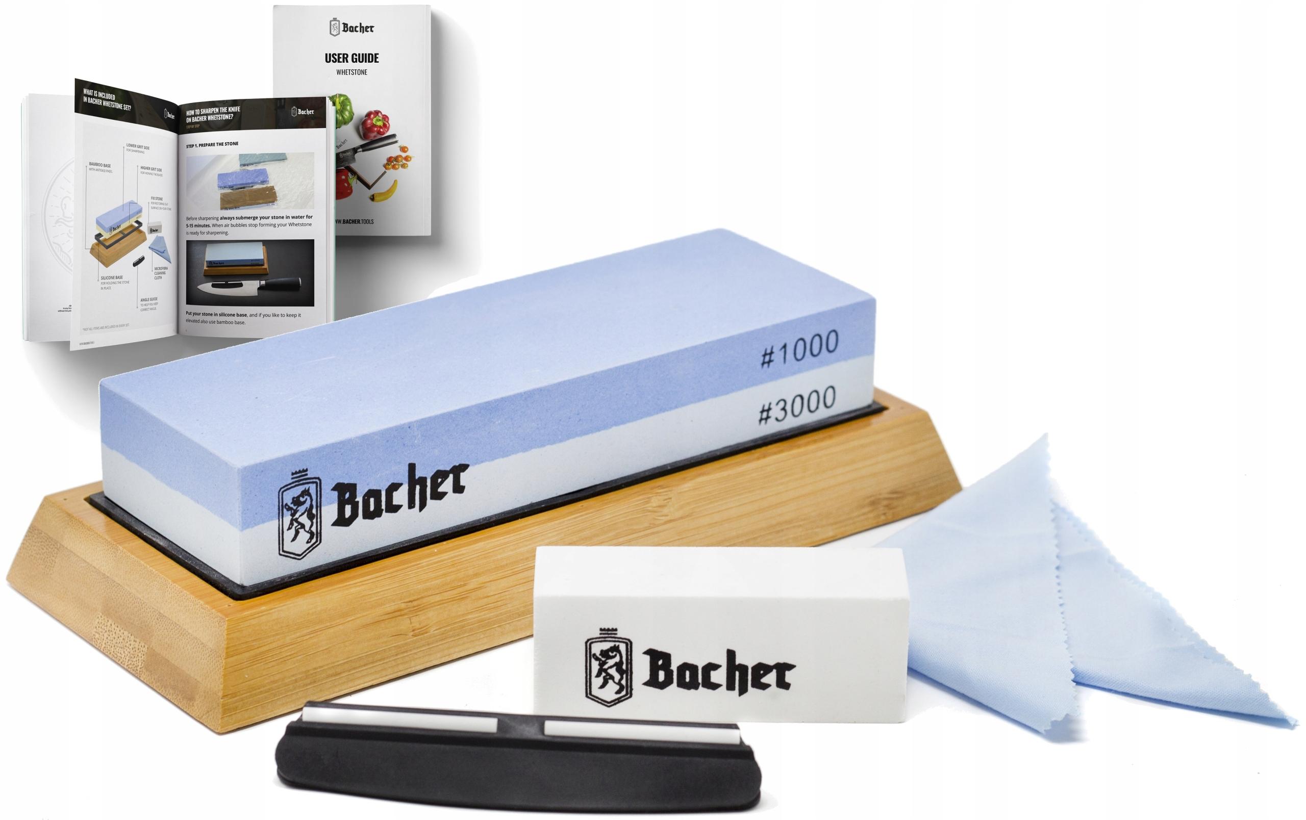 Stroj BACHER osełka kameň 1000/3000 SET+ebook