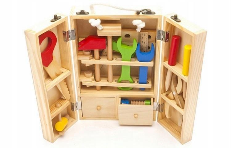 Zostava drevených nástrojov pre vzdelávanie detí