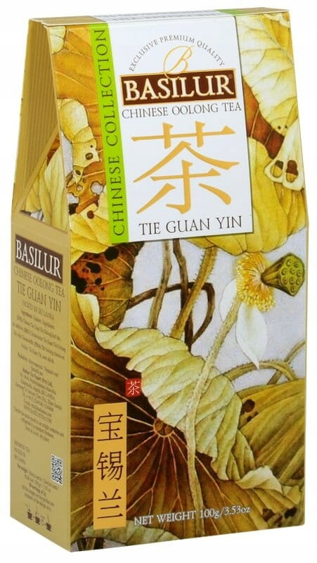 Basilur Chinese Tie Guan Yin 100g herbata turkus.
