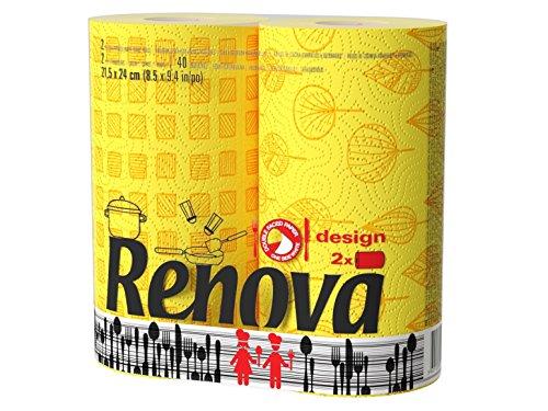 Ręcznik papierowy RENOVA 2szt DECO wzory stylowy