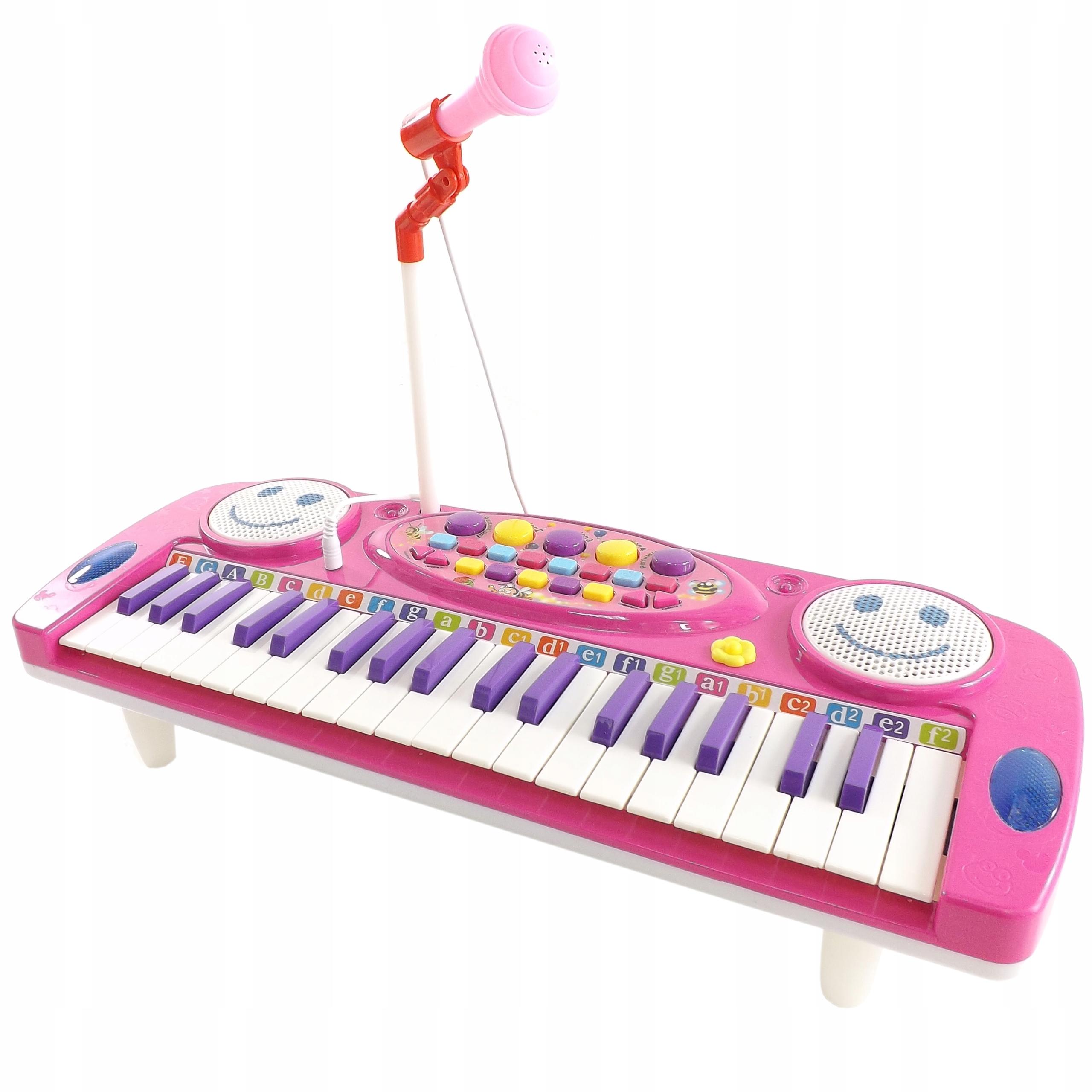 ORGANY Z MIKROFONEM 37 KLAWISZY NAGRYWANIE 3702 R Rodzaj pianinko