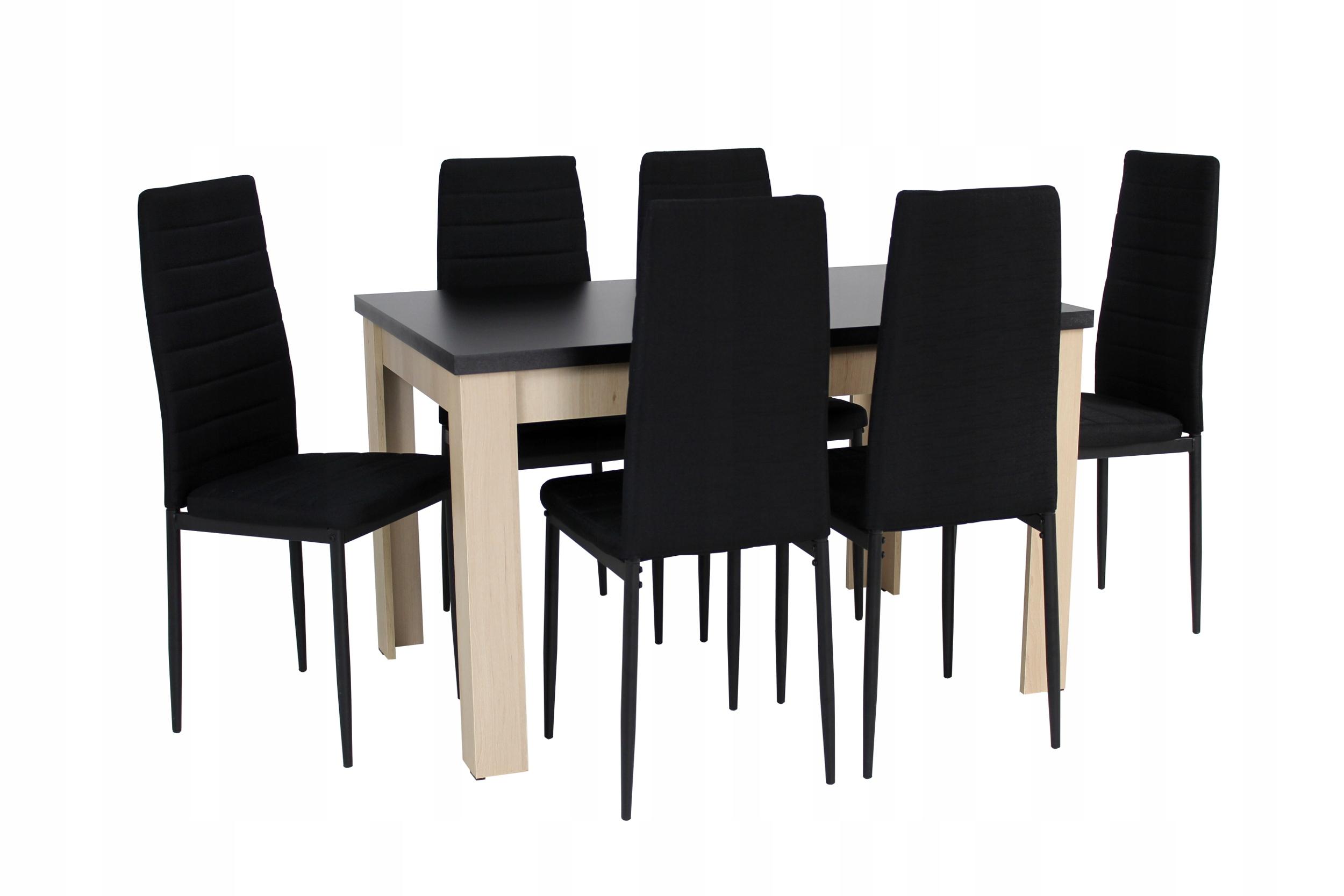 6 krzeseł i stół 80x120/160 Salon Kuchnia Jadalnia