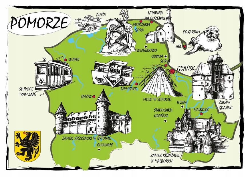 Mapa Pomerania