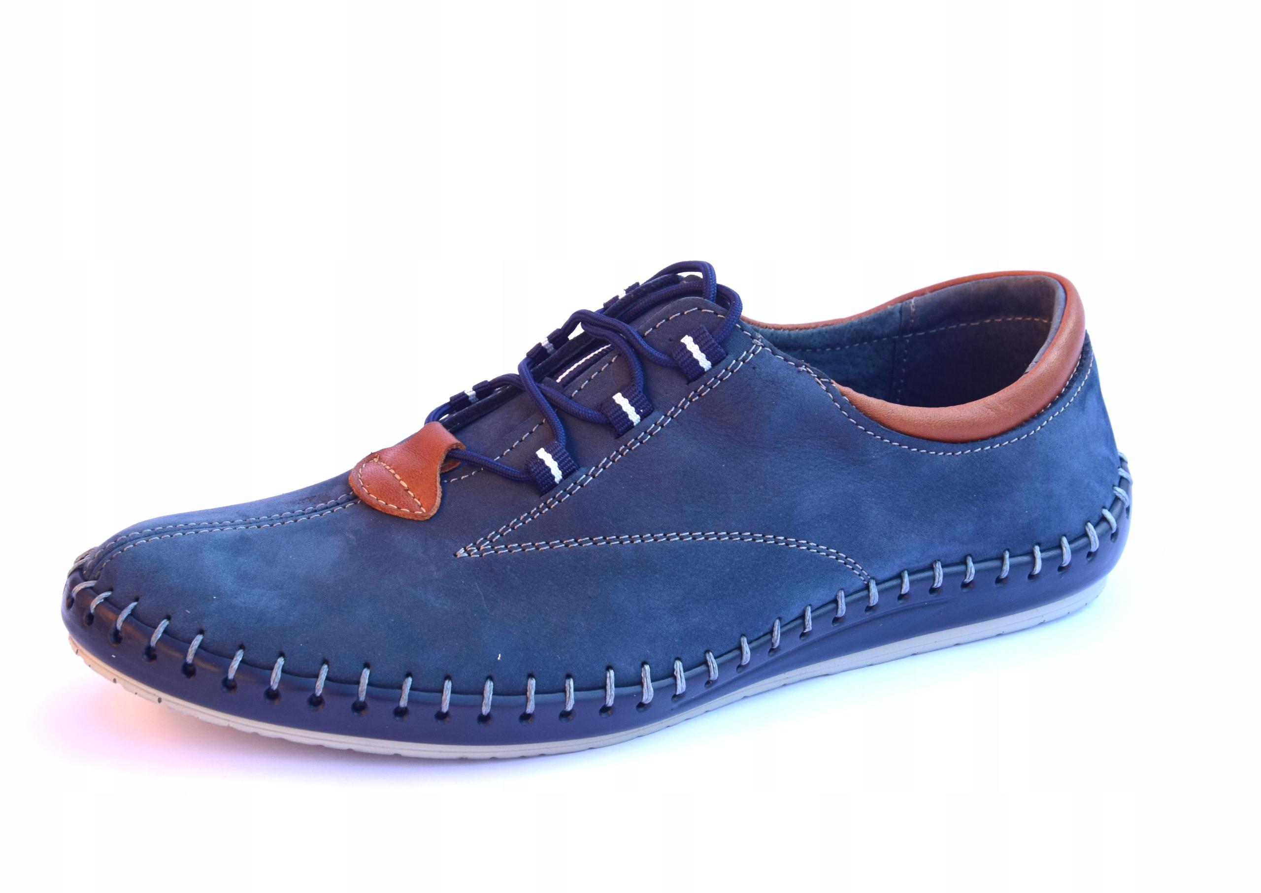 Półbuty sportowe polskie buty skórzane 0421
