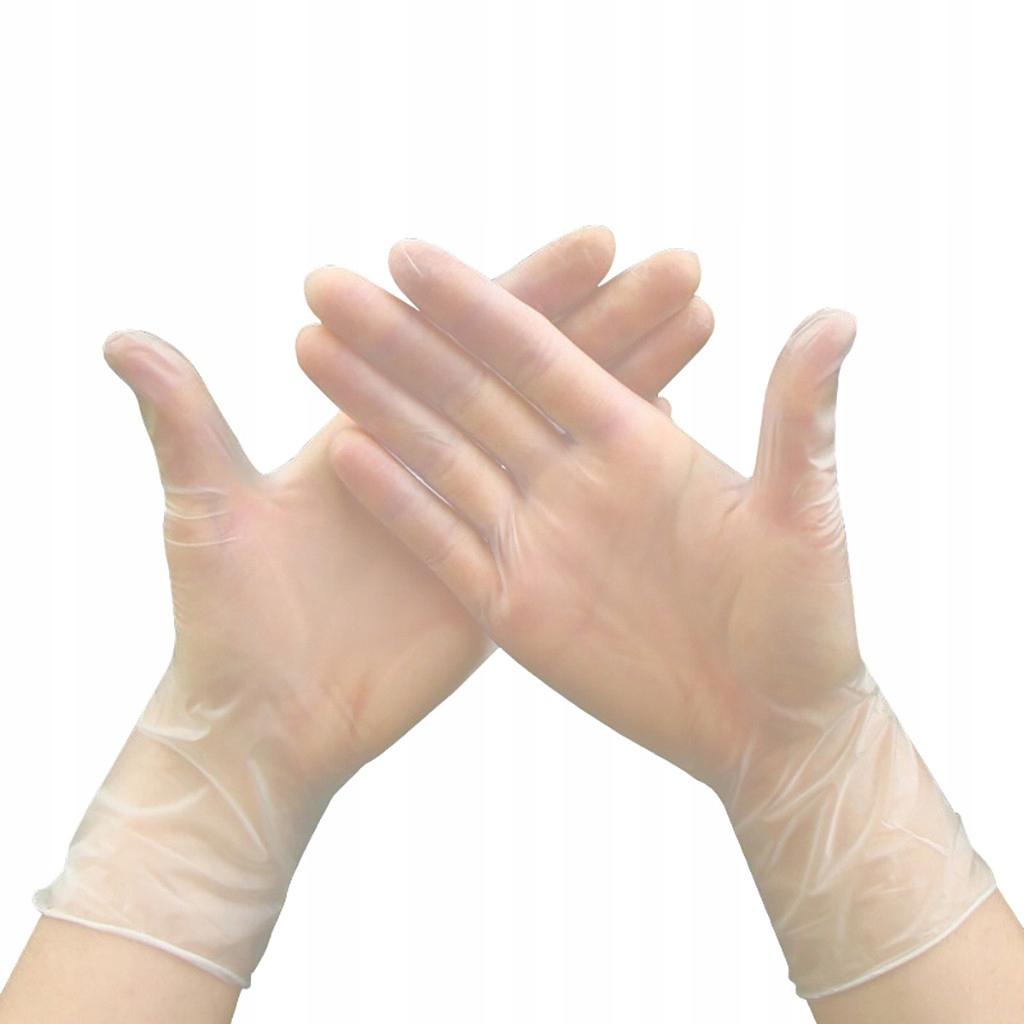 Jednorazové gumené rukavice prášok zdarma 100 Ks
