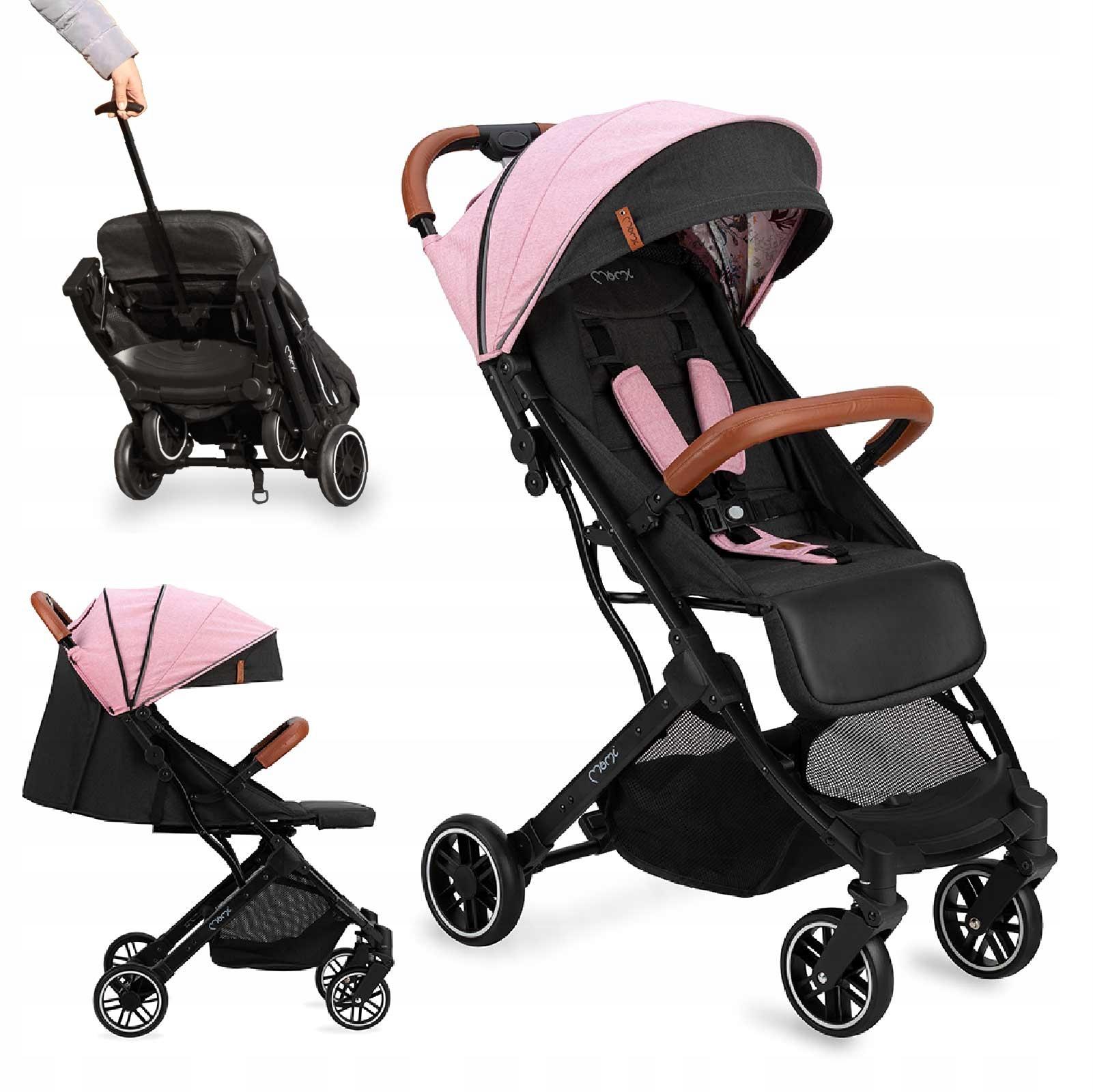 MoMi ESTELLE wózek spacerowy różowy