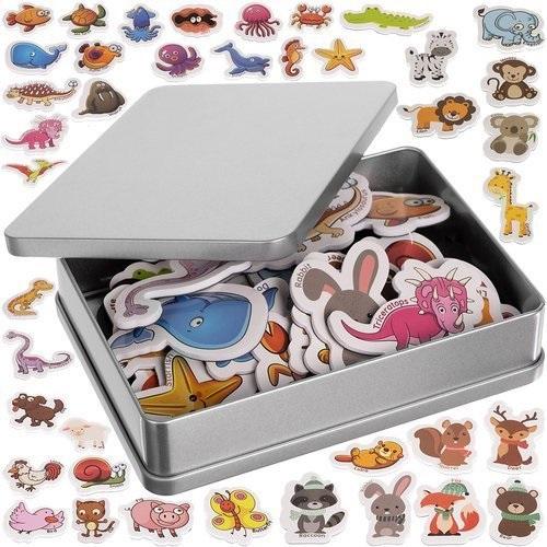 Магниты на холодильник для животных для детей 40 шт.
