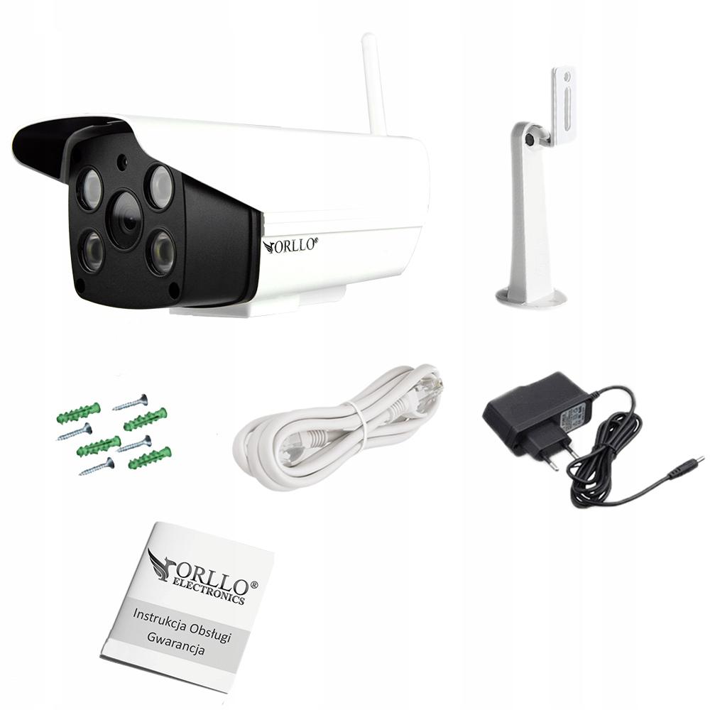 Kamera z Alarmem Zewnętrzna WiFi SYRENA + K. 64 GB Rozdzielczość 2 Mpx