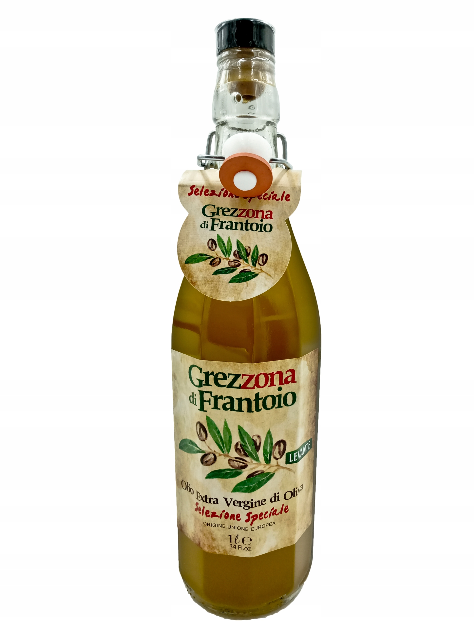 Grezzona Extra Vergine Oil, нефильтрованное, 1 л