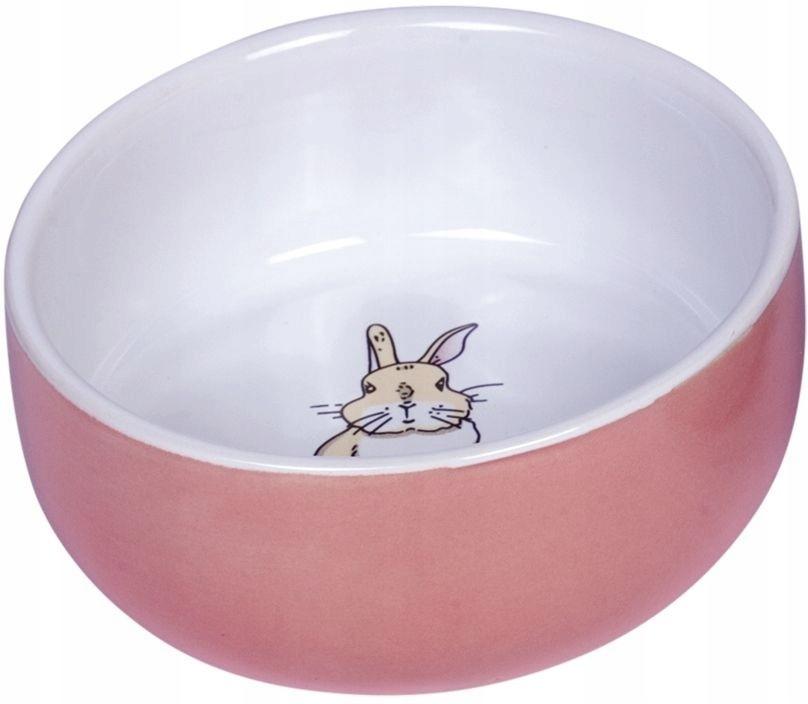 Керамическая миска для грызуна - лососевый кролик