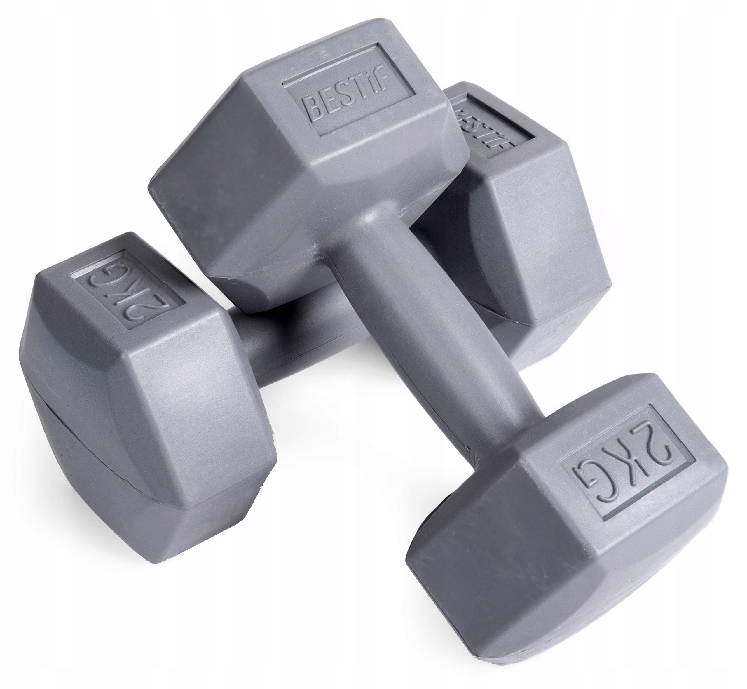 HANTLE hantelki CIĘŻARKI ZESTAW HANTLI 2x2kg 2kg