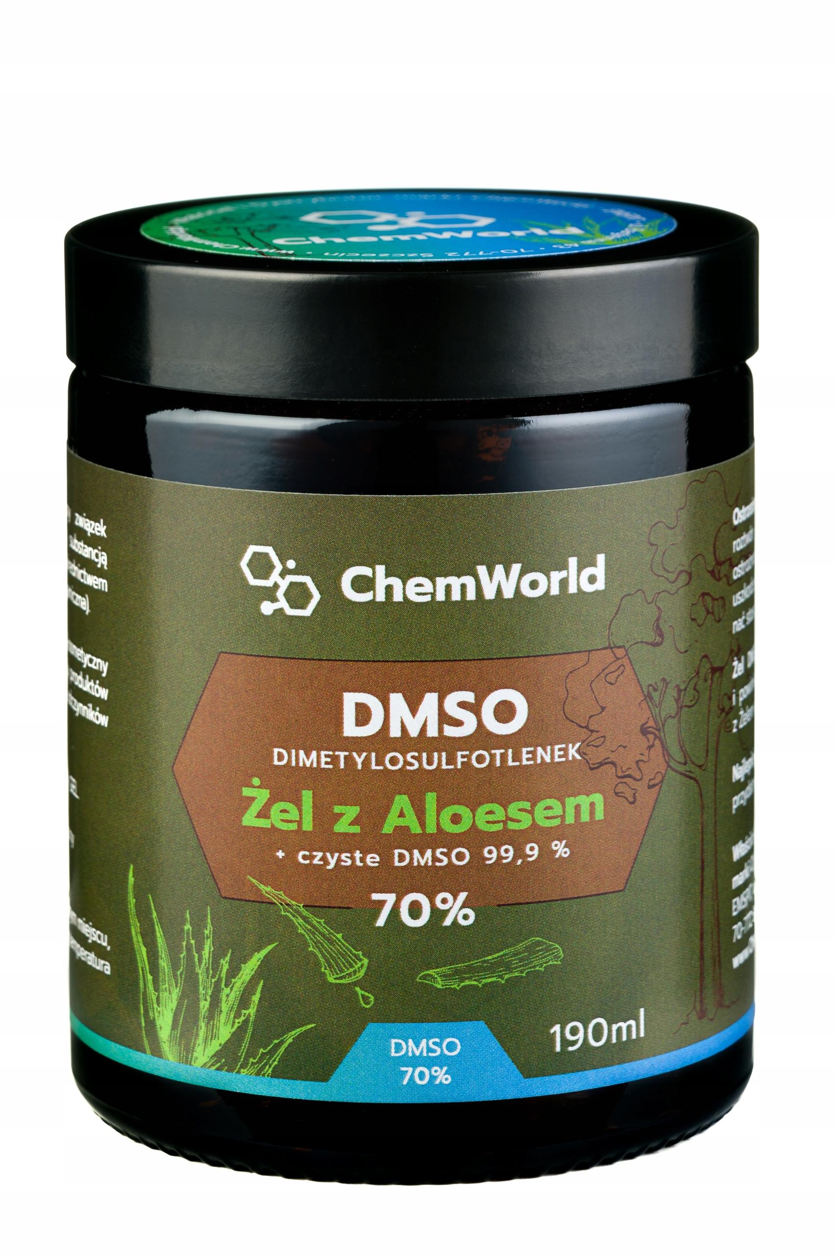 DMSO 99.9% Гель Мощность 70% с алоэ 99% природа 190 мл