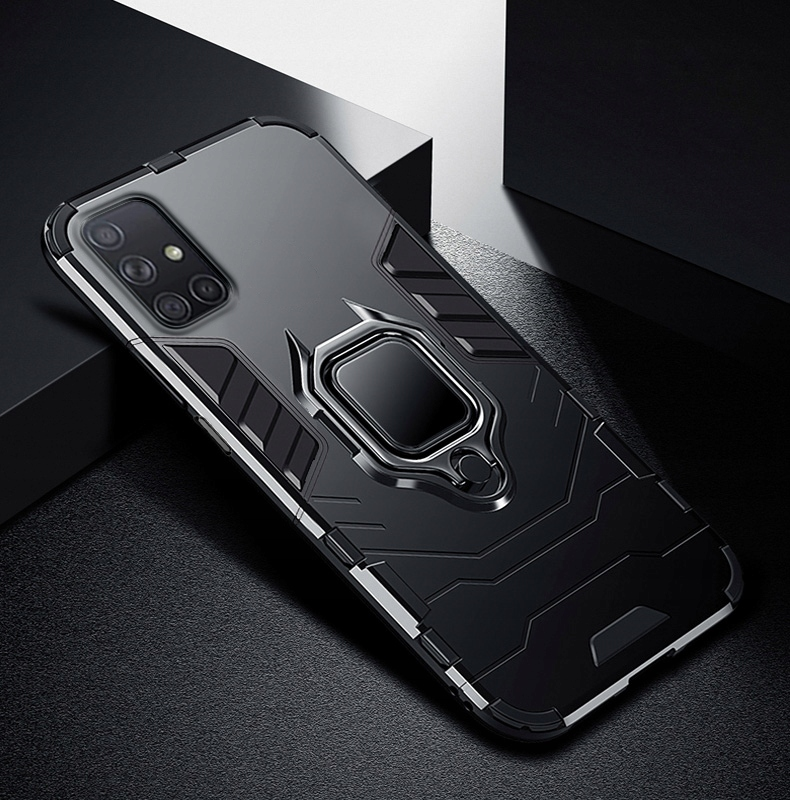 Etui do Samsung Galaxy M51 Pancerne Case + Szkło Kolor czarny