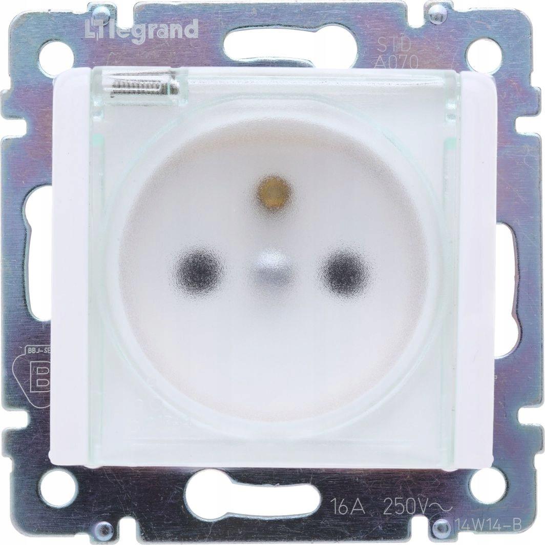Legrand Valena Single 2P + Zásuvka s IP44 Biela