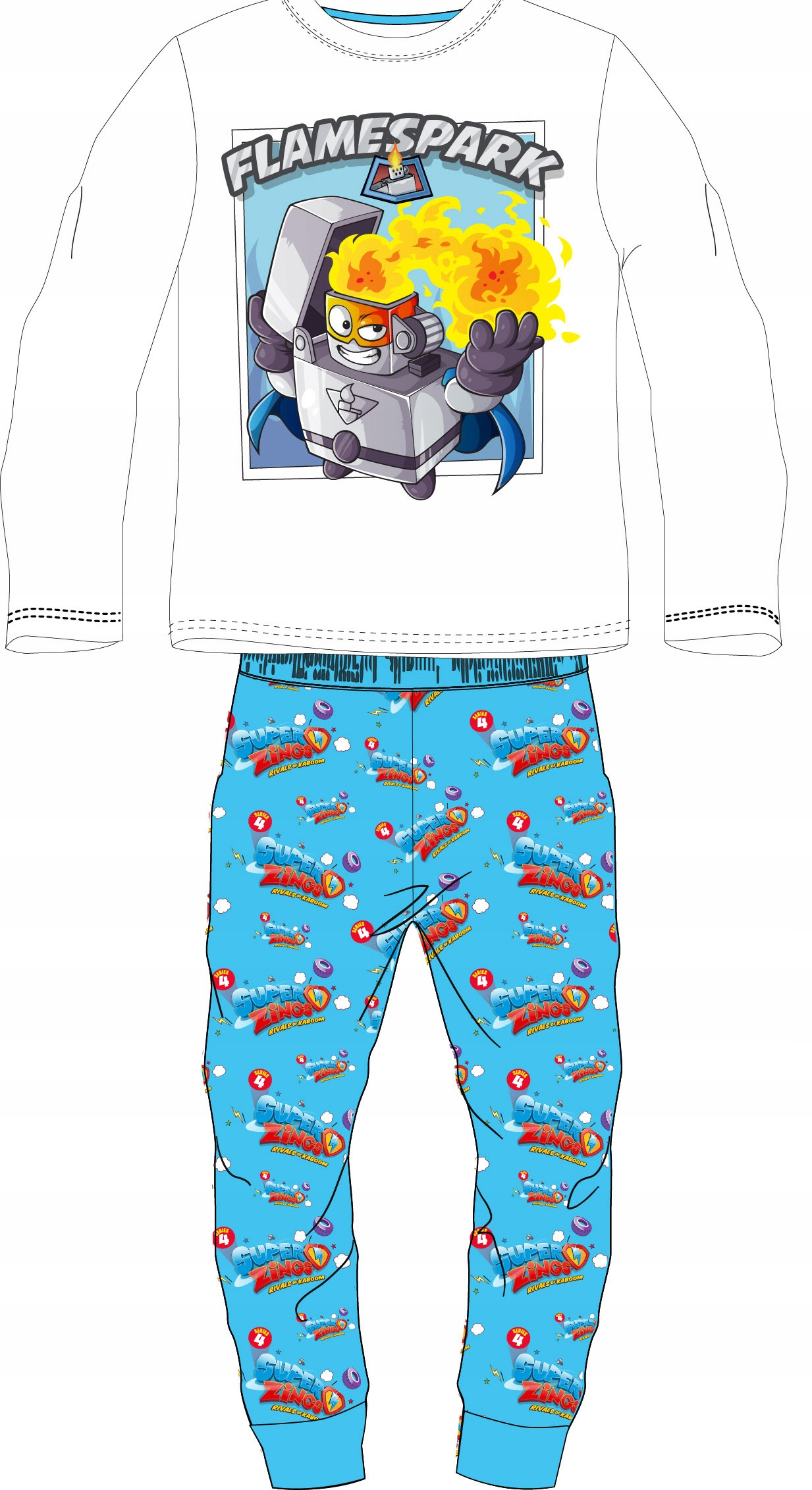 Pyžamo SUPER ZINKS r128 100% BAVLNA