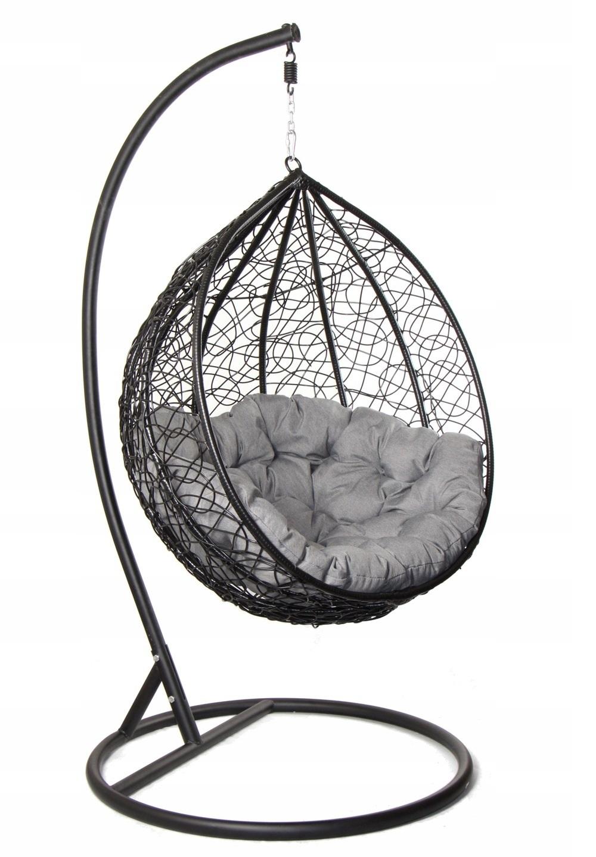 Fotel wiszący, bujany, huśtawka ogrodowa kokon XL