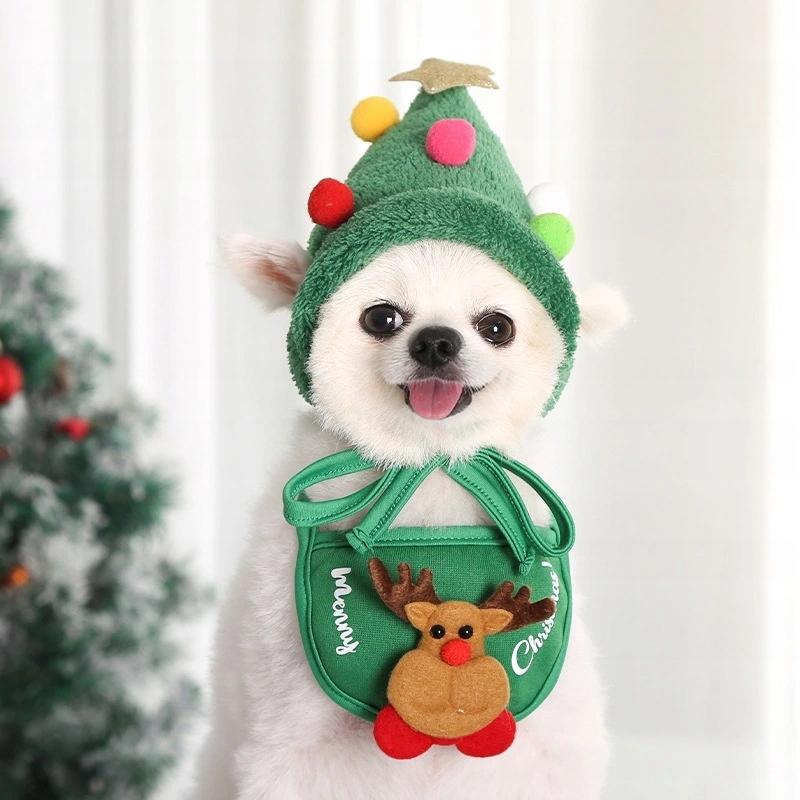 Рождественский набор шапок и нагрудников для домашних питомцев С.