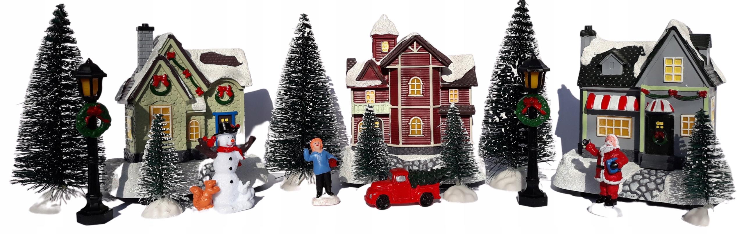Рождественская деревня LED ФИГУРКИ Mikołaj Snowman 17 EL