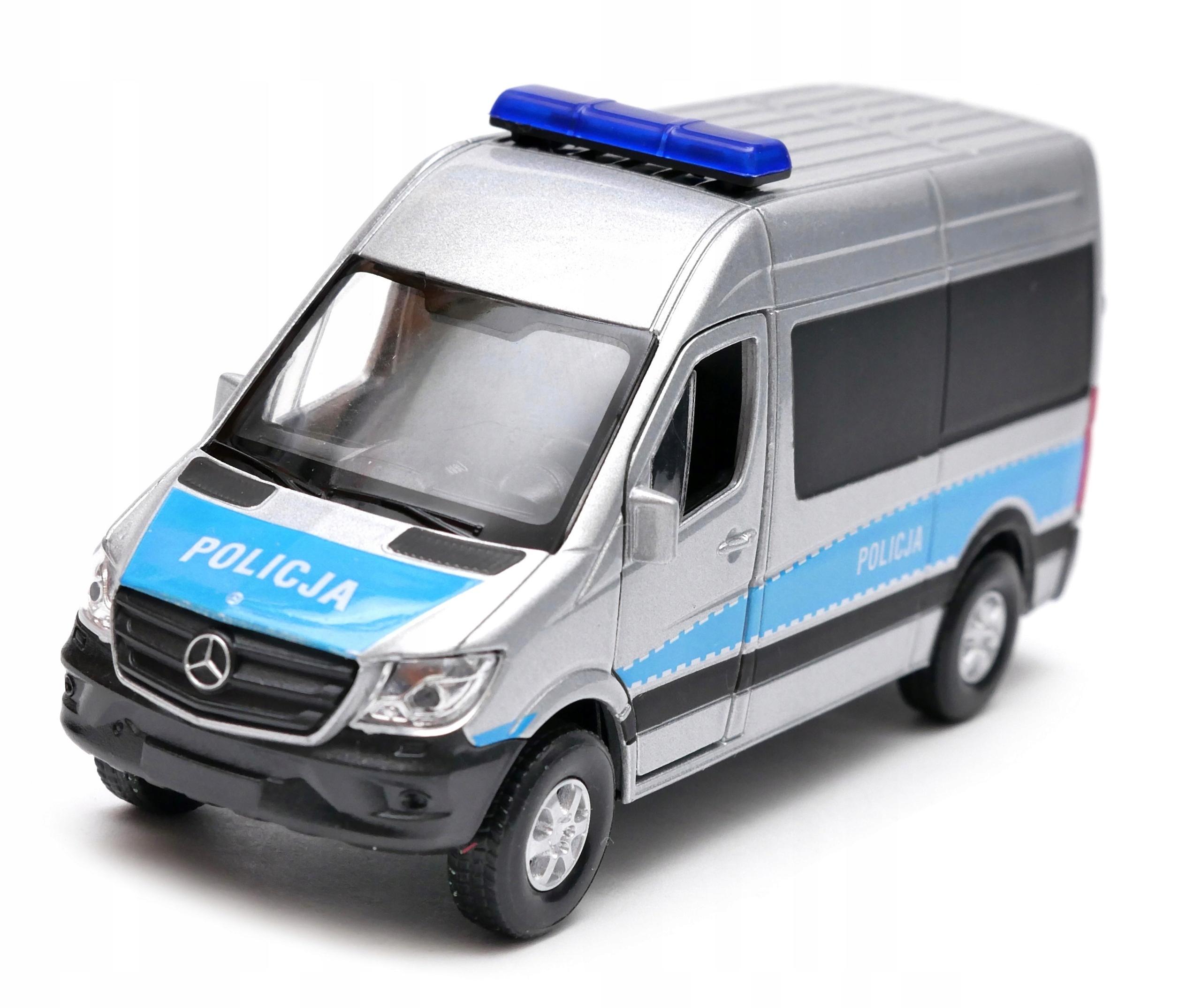 Mercedes-Benz Sprinter Van Polícia 1:34 - 39 Welly