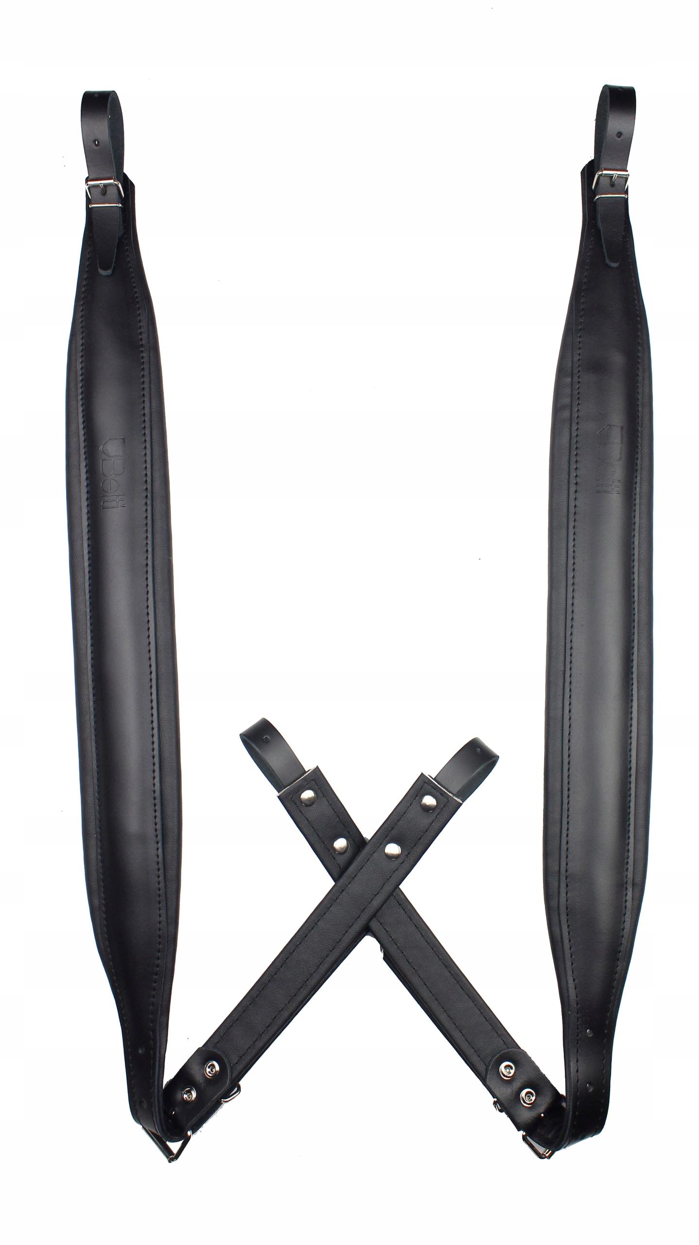 Normalice popruhy s vankúšmi kožené asm120 belti