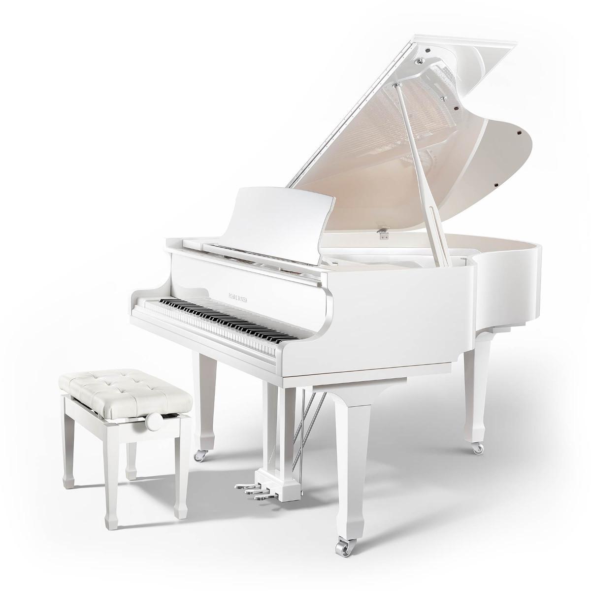 Piano Pearl River 160 EU WHITE GLOSS + CHROME
