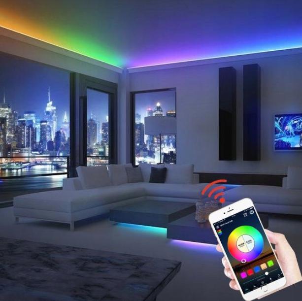 VANNTETT TAPE RGB5050 5m IOS ANDROID Bluetooth Produktkode 68