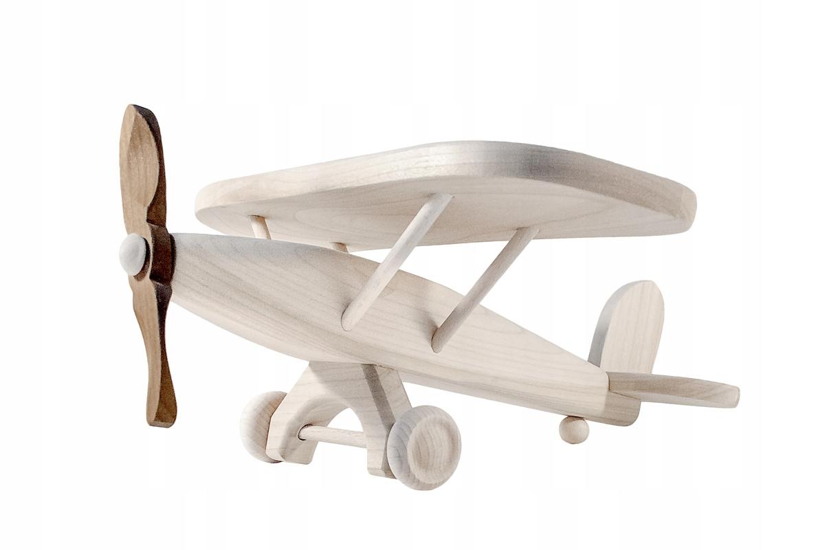 Veľké drevené letadlo s vysokým krídlom AIRPLANE MODEL