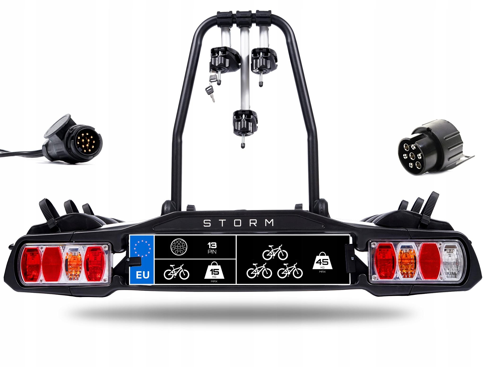 STORM 3 - Багажник, велосипедный держатель для крючка на 3 велосипеда