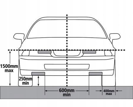 Światła do jazdy dziennej LED DRL Xenon White 6000